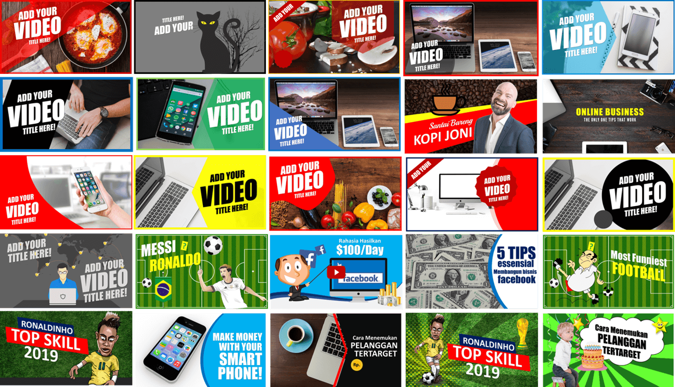 Buy Youtube Thumbnails Templates Pack - Thumbnails Monster